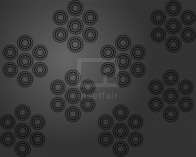 Creative dot circled rangoli flower ceiling wallpaper vector design