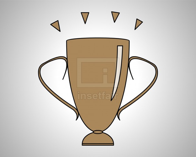 Champion trophy vector image free download