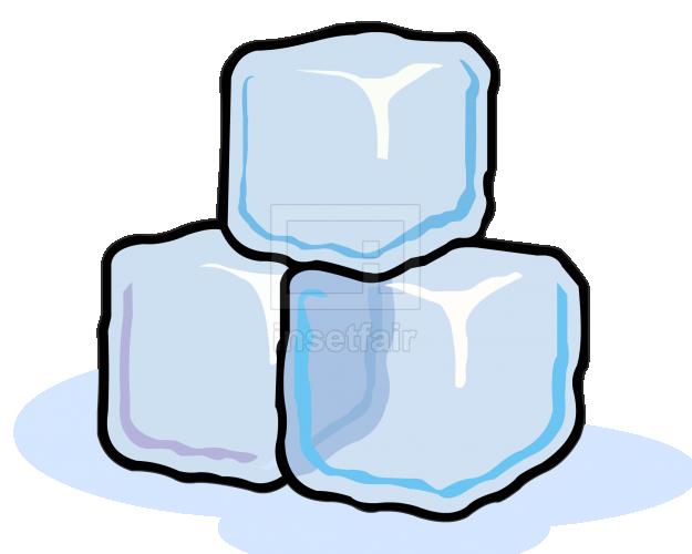 Ice cube blocks simple cartoon vector clipart
