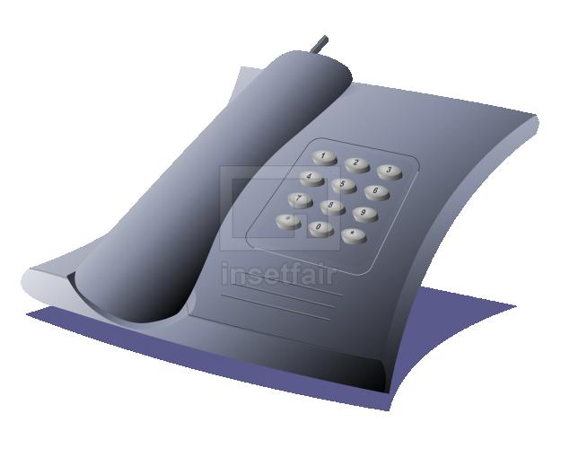 Landline dialer telephone simple vector clipart