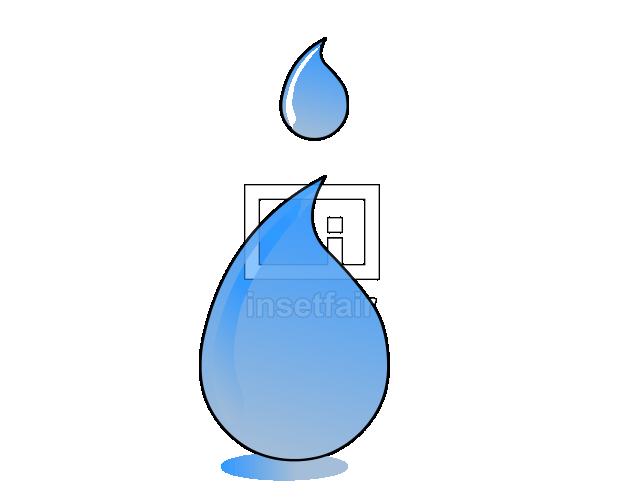 Water drop blue vector clipart
