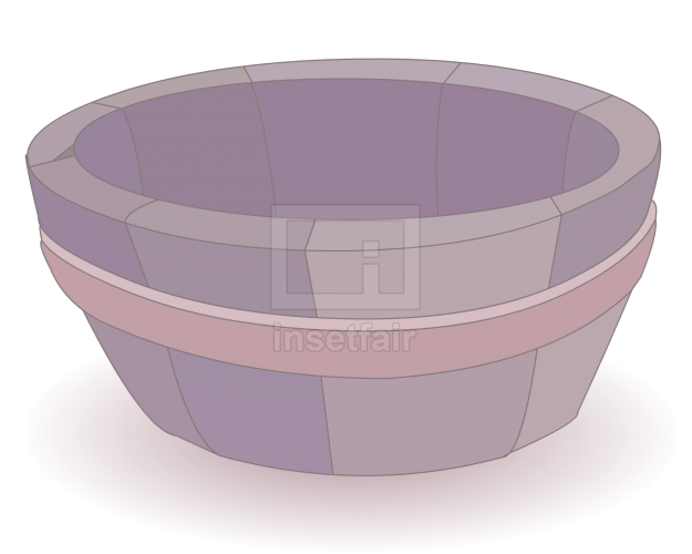 Wooden tub cartoon clipart flash drawing
