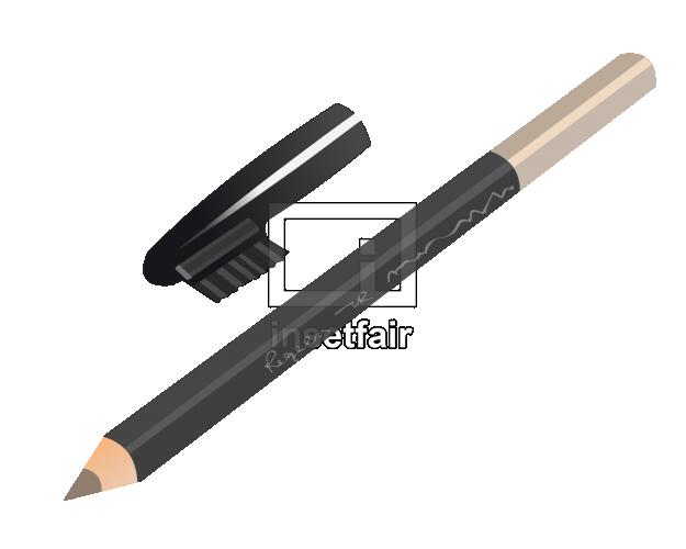 Black eyebrow pencil flash vector graphics
