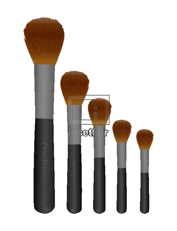 Face makeup brush set illustration with adobe flash
