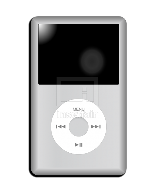 Apple iPod classic music player 7th generation vector adobe flash illustration