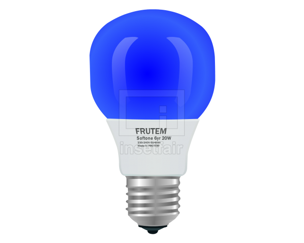 Blue Frosted Light Bulbs Vector Illustration Flash Graphics