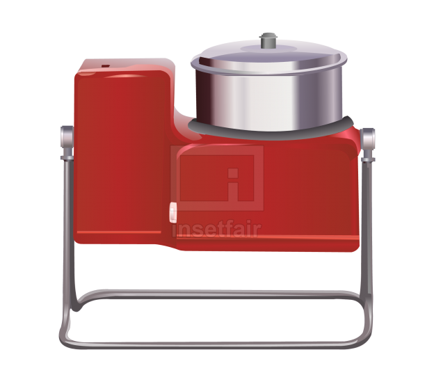 Tilting wet grinder machine kitchen appliances vector png stock image