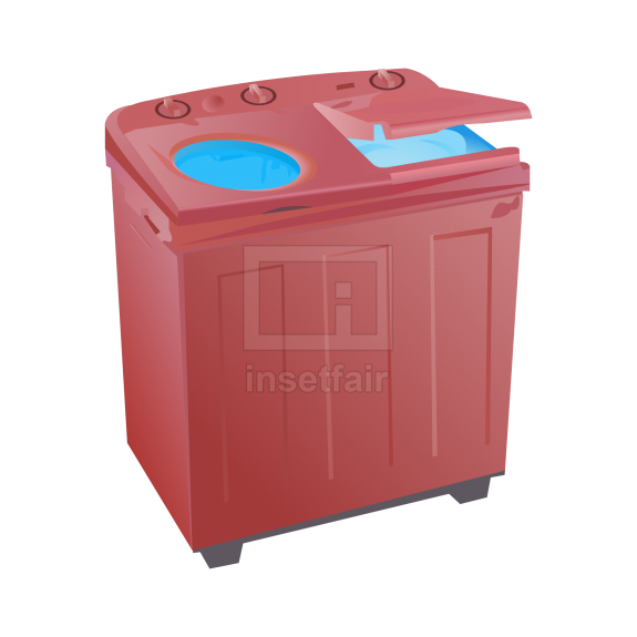 Top load double door washing machine with dryer vector graphics