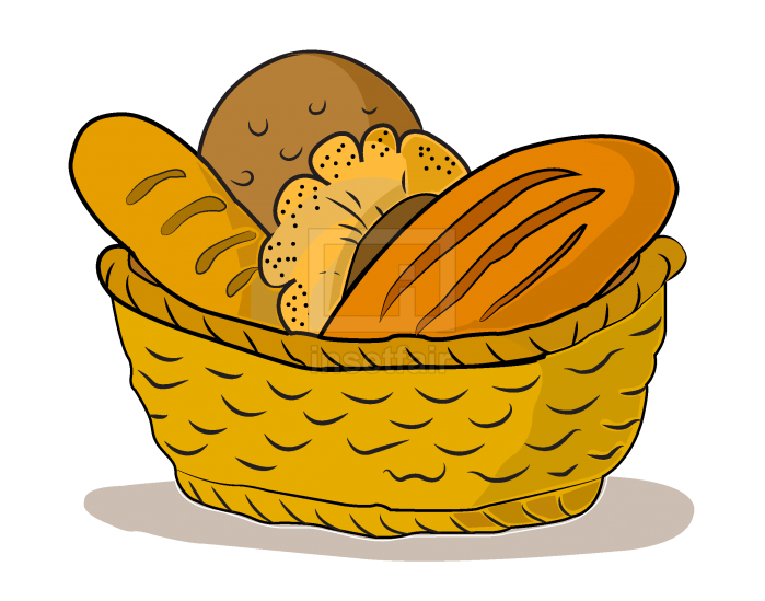 Bread Basket vector illustration royalty free stock png image