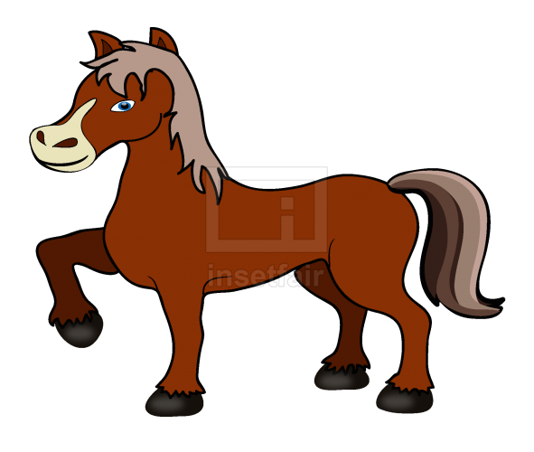 Dancing Poney vector drawing with adobe illustrator free download png image