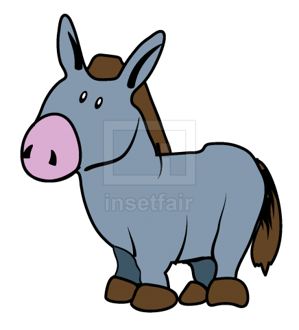 Donkey Clipart vector drawing with adobe illustrator free download png image