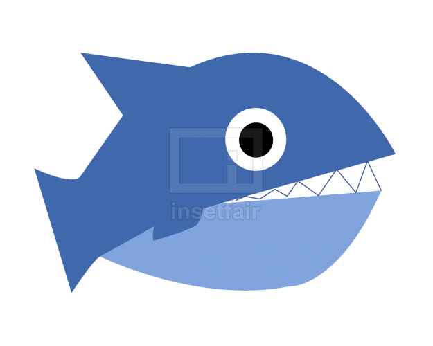 Fish flat vector color icon illustration royalty free png image