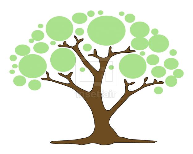 Creative Tree icon isolated on white background