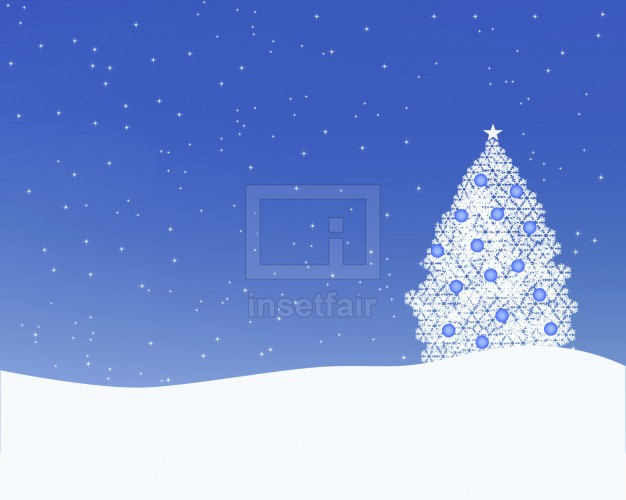Creative winter x mas tree nature wallpaper vector