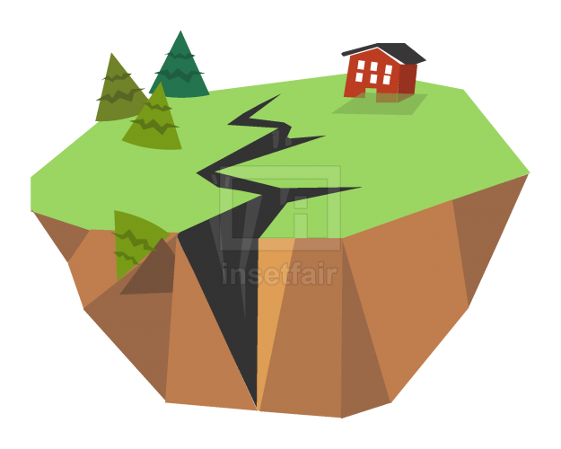 Earthquake creative art vector illustration AI source file free download