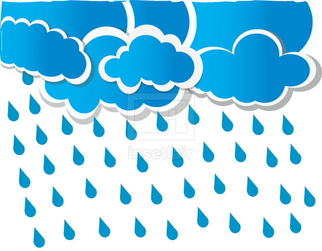 Rainfall from Cloud vector illustration