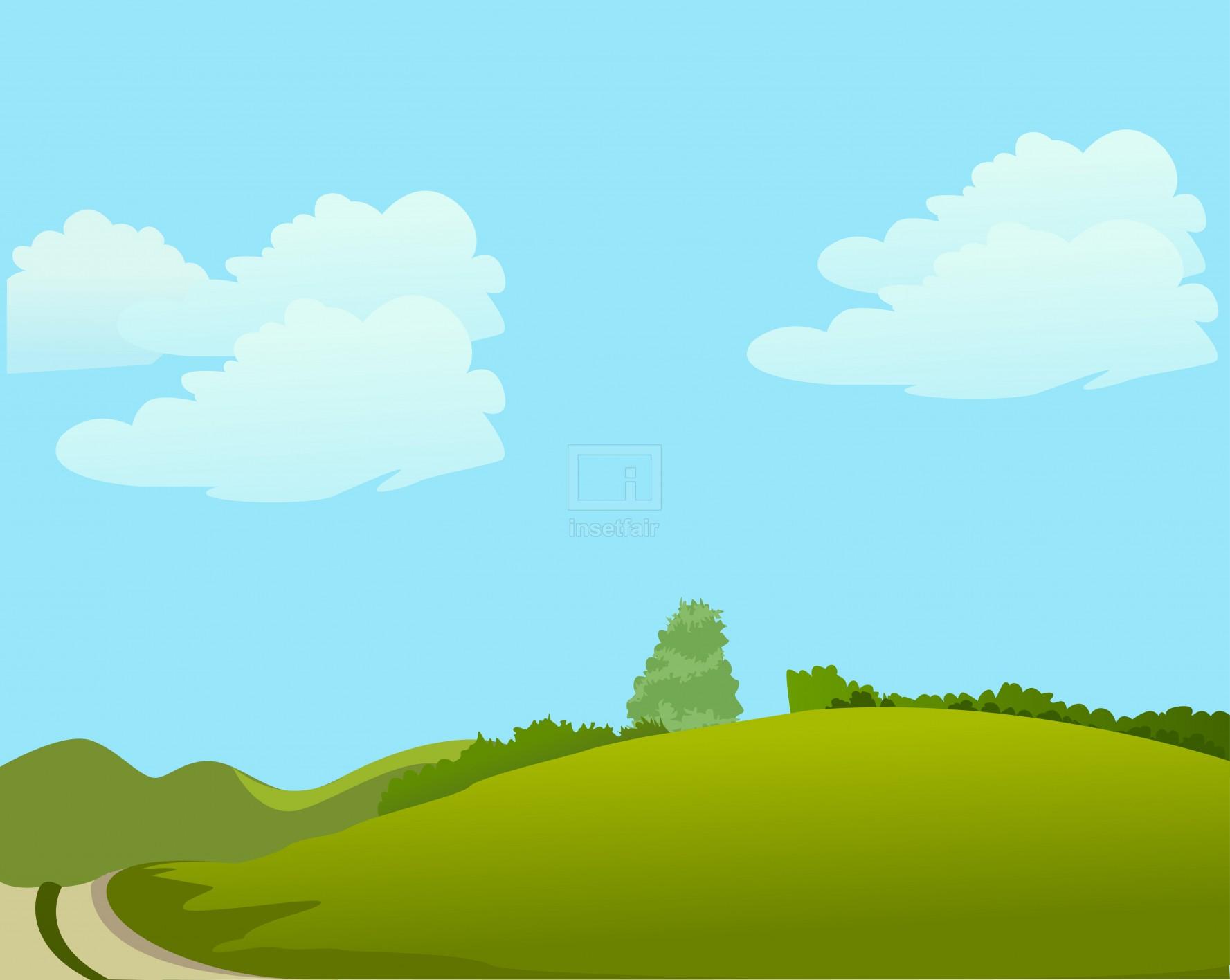 Hot summer season blue sky vector illustration AI source file free download