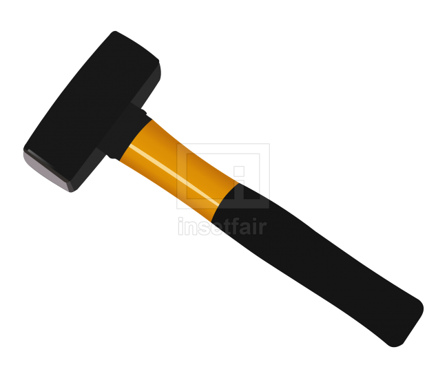 Magnusson fibreglass-handled club hammer vector flash illustration