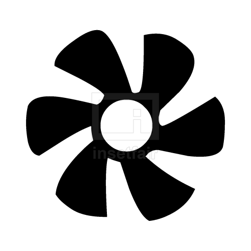 Exos fan blade simple flat black icon PNG file copy